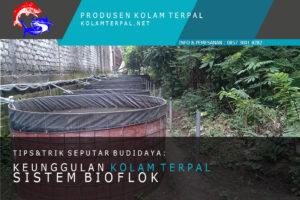 kolam terpal lele sistem bioflok