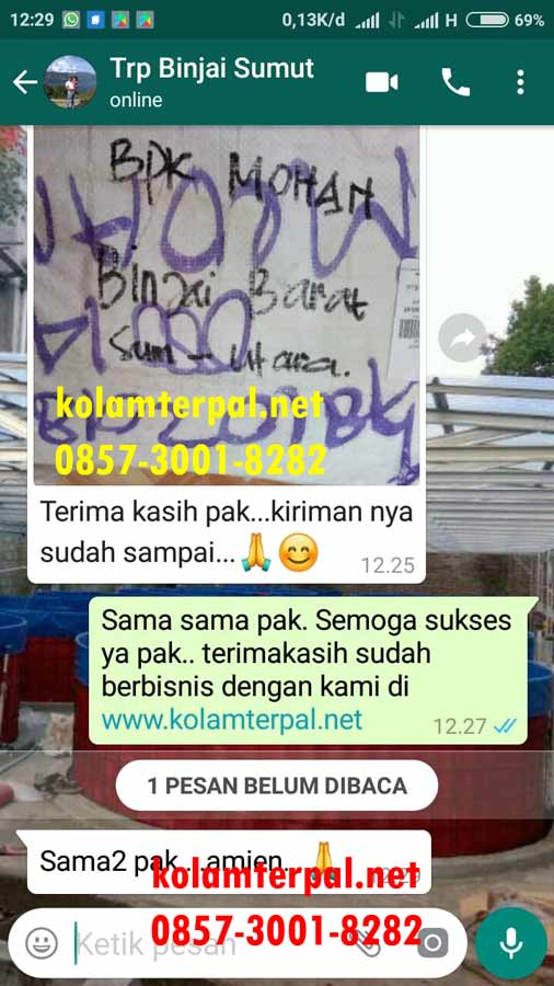 Jual Kolam Terpal Bulat Siap Pakai Fullset Surabaya