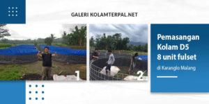 Pemasangan Kolam Terpal Diameter 5 di Karanglo Malang